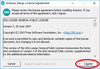 Licence du logiciel Arduino