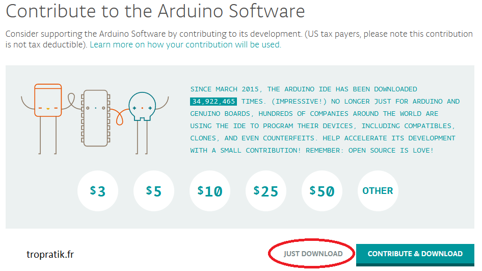 Participer au logiciel Arduino