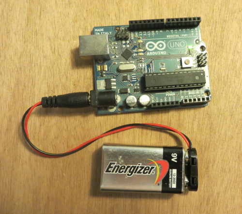 Alimenter la carte Arduino avec une simple pile 9V