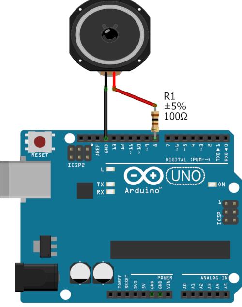 Branchement d'un Haut parleur sur Arduino