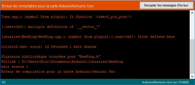 Erreur de compilation: Multiple definition of '__vector_7'