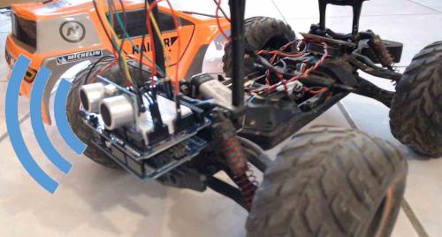 Radar de recul avec Arduino installé sur une voiture Radiocommandée