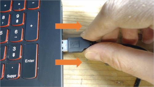 Débrancher le convertisseur USB/TTL