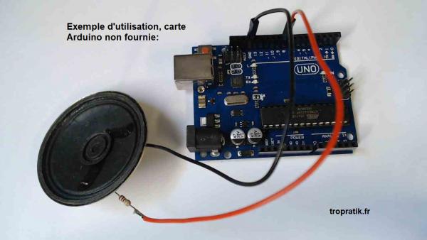 Exemple d'utilisation du Kit haut-parleur pour Arduino