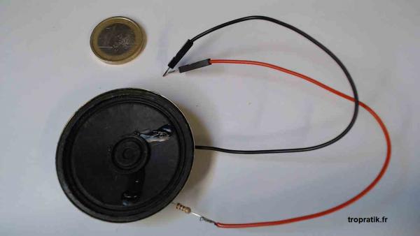 Kit haut-parleur pour Arduino vu de face
