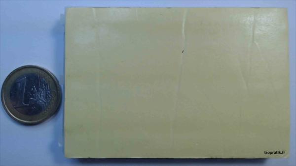 Plaque d'essai 400 points (plaque de connexions sans soudure) vue de dos