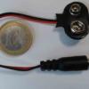Connecteur de pile 9V avec connecteur jack mâle pour Arduino - Vue de face