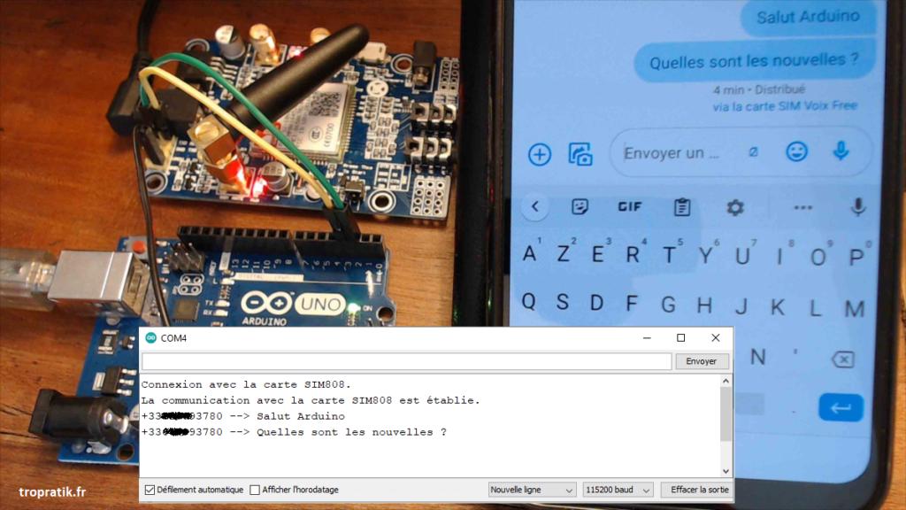 Programme de réception de SMS avec Arduino