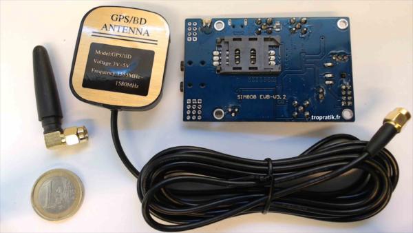 Kit de développement SIM808 EVB-V3.2 vue de coté