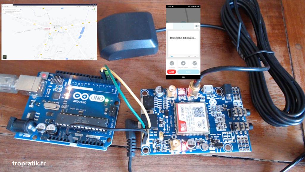 Projet d'acquisition des coordonnées GPS avec la SIM808 et Arduino